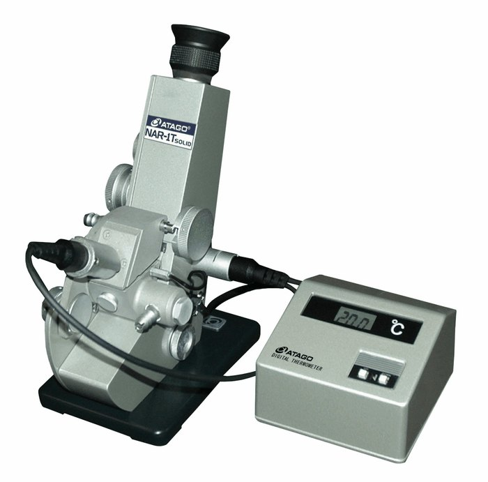 Refractive Index Meter : Atago abbe refractometer for solids liquids vac