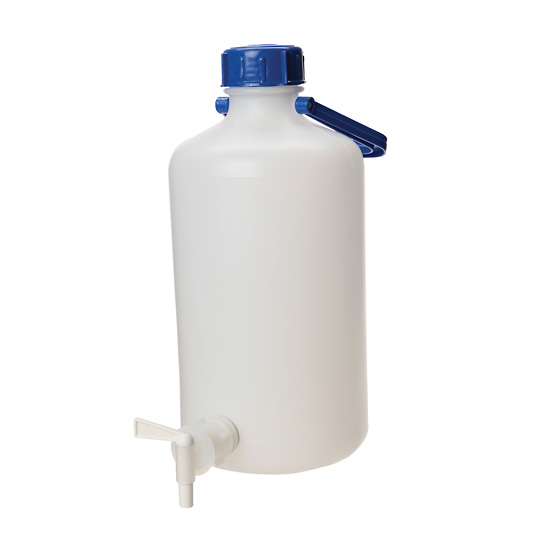 Cole parmer heavy walled hdpe carboy w spigot narrow mouth