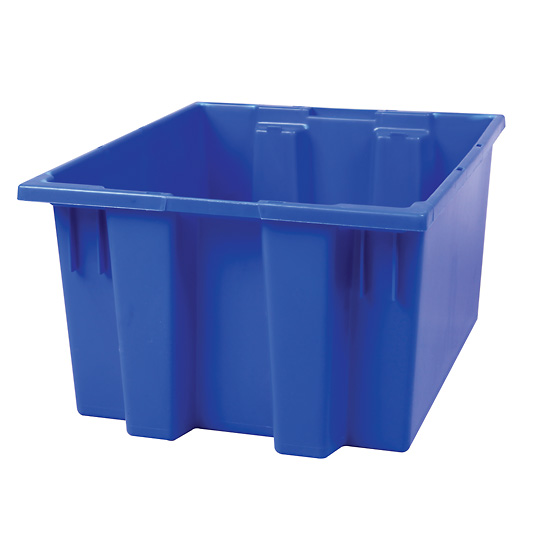 HDPE Storage Tote Box without Lid 1 2 cu ft 17 x 14 5 x 9 ...
