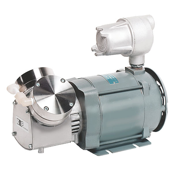 Knf Explosion Proof Motor Vacuum Pump 316ss Ptfe 1 1 Cfm