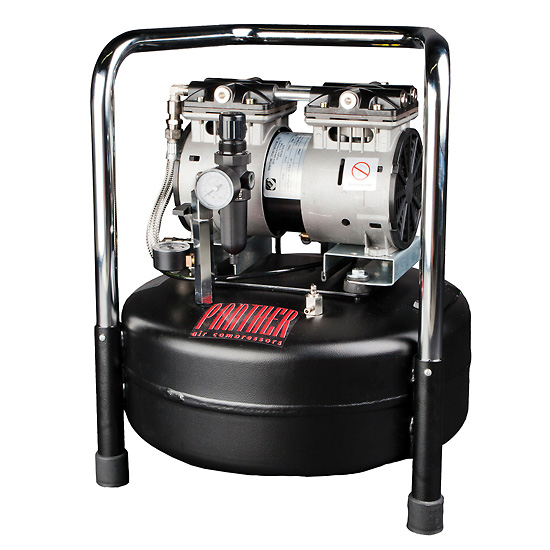 Ultra Quiet Oilless Air Compressor 2 5 cfm 6 gal Tank 220V