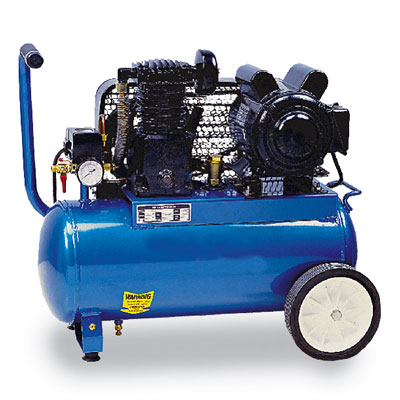 COLE-PARMER Professional series air compressor, 7.1 cfm, 20 gallon portable tank, 115/230 VAC