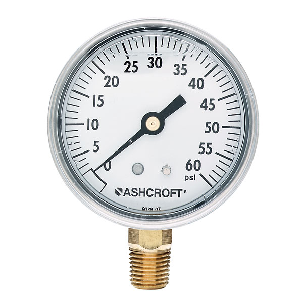 Ashcroft Commercial Gauge With Bottom Connection 15 Psi 2