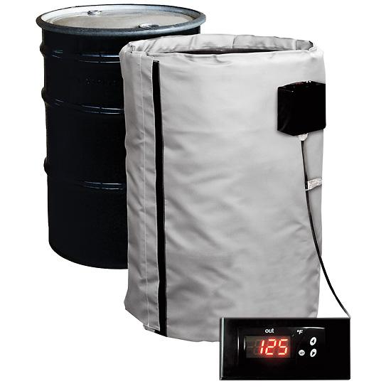 55 gallon full coverage plastic drum heater single zone for Plastic water heater