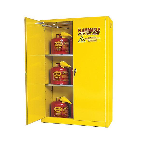 Flammable Storage Cabinet Self Closing Doors 45 Gallon