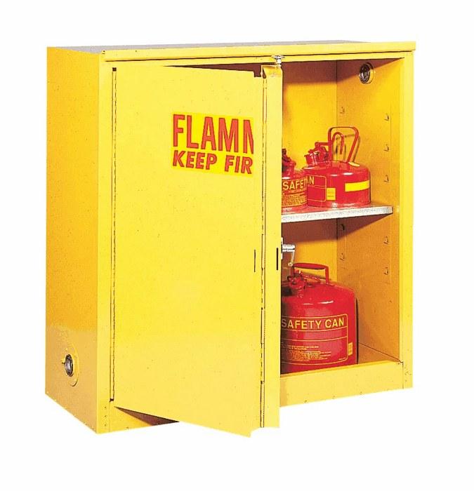 Flammable Storage Cabinet Self Closing Doors 30 Gallon