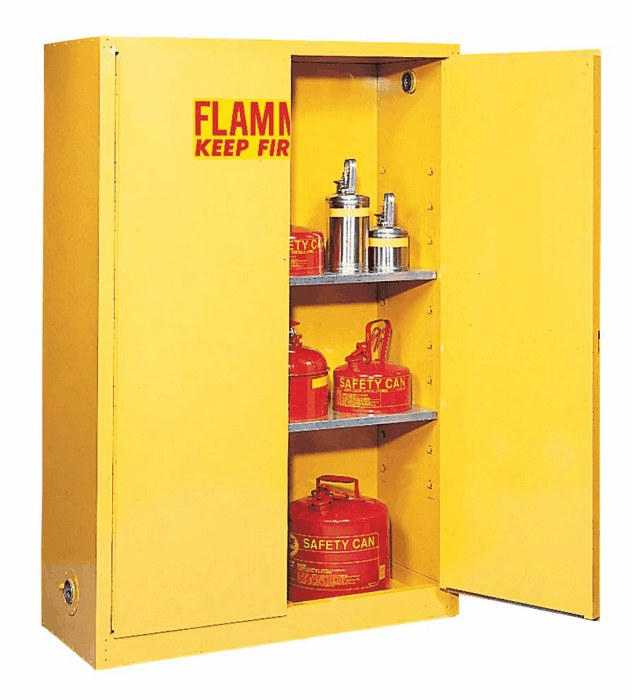 ... And The 2 Cycle Gas, Small Propane Tanks And Other Flammables In A  Flammables Storage Cabinet. Well Worth The High Price For Peace Of Mind.