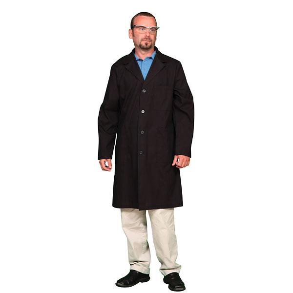 Unisex Poly Cotton Lab Coat Black Medium 36 40 from Cole ... - photo #33