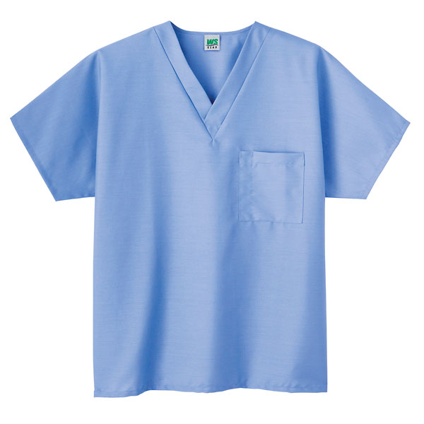 Meta Unisex Scrub V Neck Top Ceil Light Blue Large From