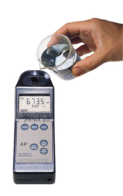 Digital Conductivity Meter : Myron l p waterproof digital conductivity tds resistivity