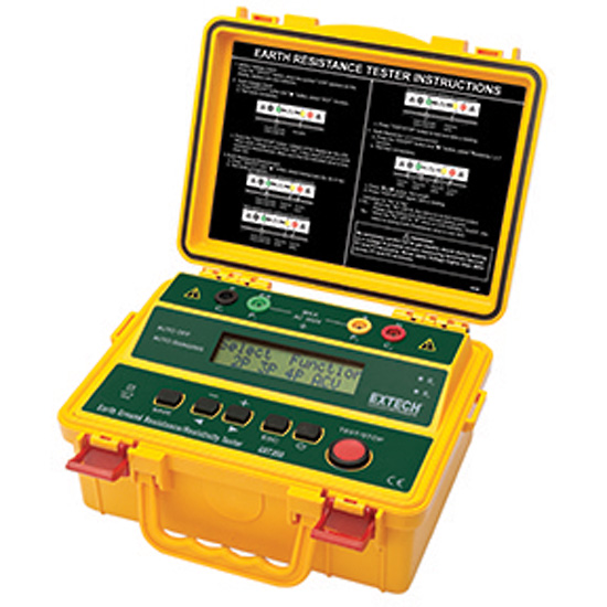 Cable Resistance Tester : Extech grt earth ground resistance and resistivity