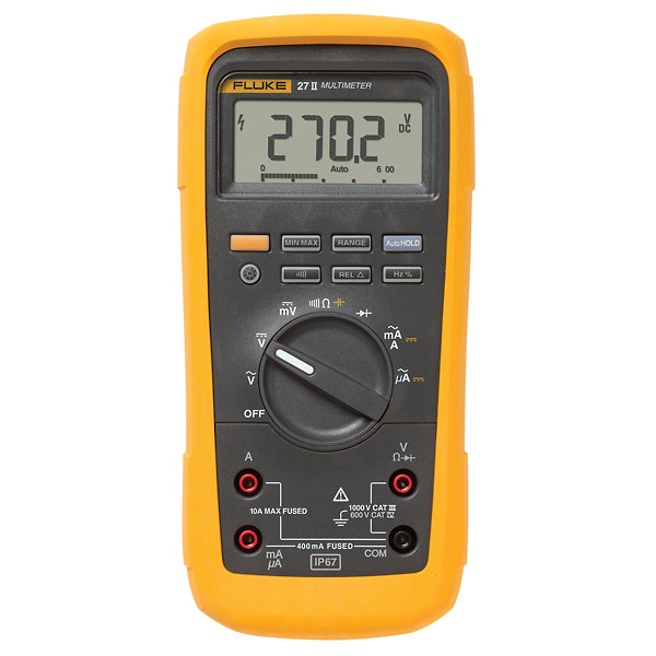 Fluke 27 II Rugged IP67 Industrial Multimeter from Cole-Parmer