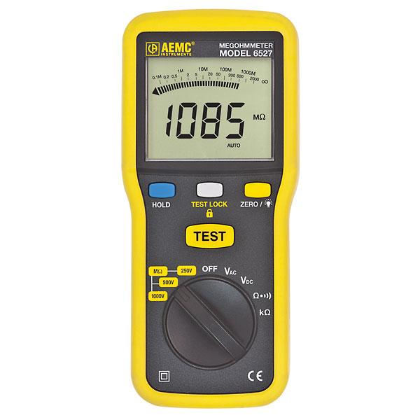 Aemc 6527 Digital Megohmmeter 1000 V 89 X 197 X 45 Mm From