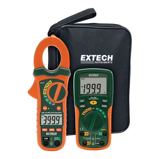 Electrical Clamp Meter : Extech etk electrical test kit with ac dc clamp meter