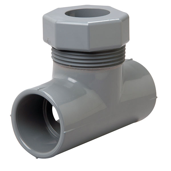 Flow cell cpvc tee fitting slip fit from cole parmer