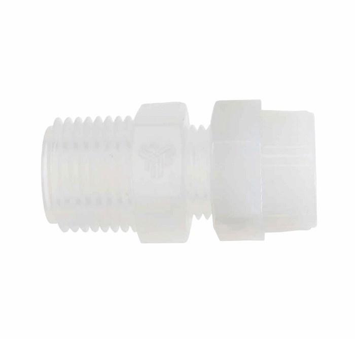 Pharmafluor compression to male npt thread adapter pfa