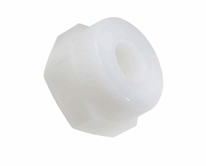 Compression etfe nut and ptfe ferrule assembly for