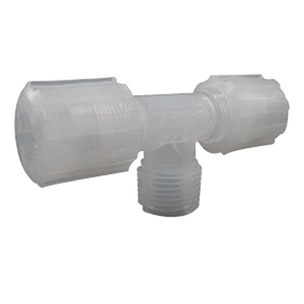 Compression branch tee pfa od npt m from cole