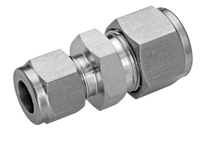 Compression reducing union stainless steel mm od