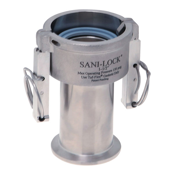 Sani lock quick connect tri clamp adapter