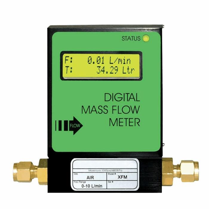 Digital mass flowmeter aluminum for co to ml min from