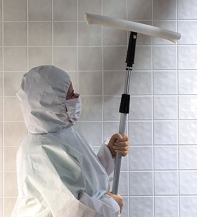 Wall Wipr Cleaning System Mop Cover Polyester Foam From