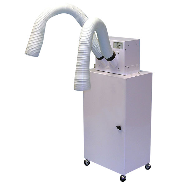 Portable Air Cleaning System : Air cleaning system portable dual arm vac from cole parmer