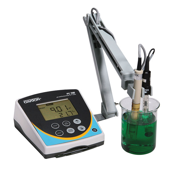 Ph And Conductivity Meter : Oakton pc meter w ph electrode conductivity temp probe