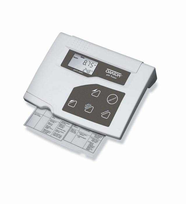 Oakton Ph Tutor Benchtop Meter With Electrode From Cole Parmer