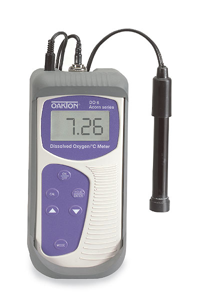 Dissolved Oxygen Meter : Oakton do dissolved oxygen meter and ft galvanic probe