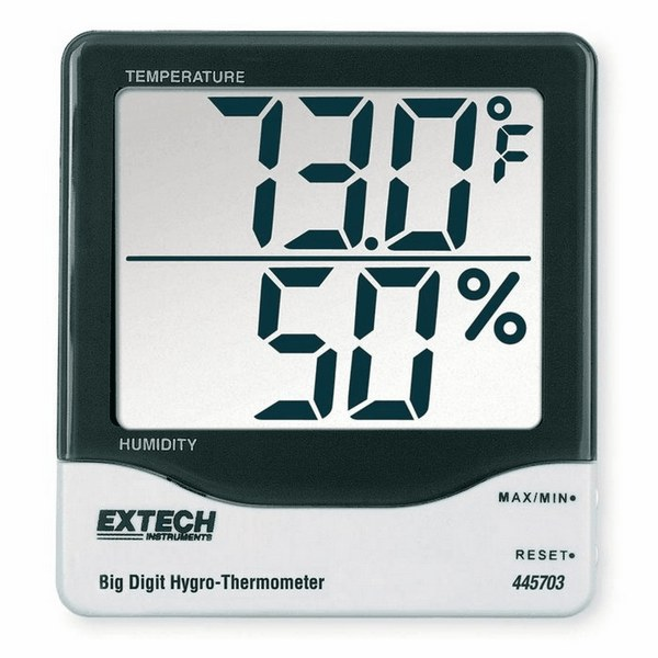 Extech 445703 Big Digit Thermohygrometer From Cole Parmer