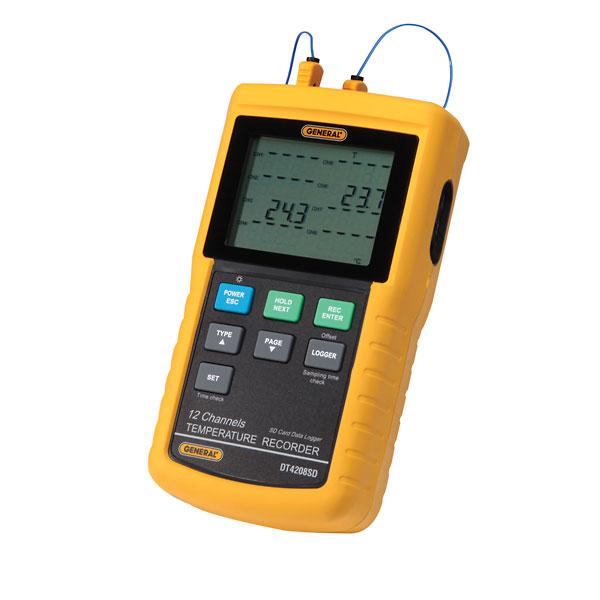 Recording Thermometers Data Logger : Channel temperature recorder w sd card data logging