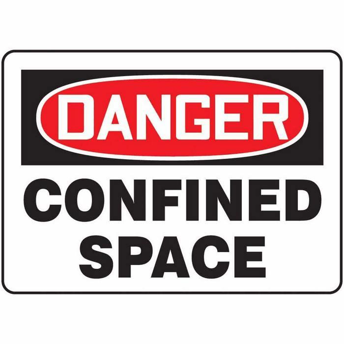 Pics Photos - Confined Space Sign Danger Confined Space Hazardous ...