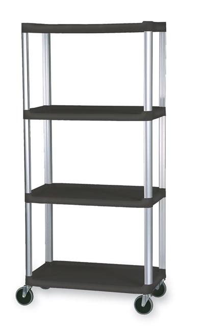 WORLDWIDE 9T43 Rubbermaid 9T43 Mobile Shelving Unit 4 Shelf 72 H