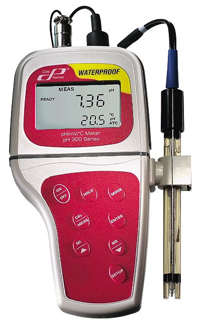 Waterproof Ph Meters : Cole parmer advanced waterproof ph mv temperature meter