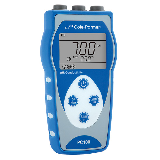Parts Of Conductivity Meter : Cole parmer pc handheld ph conductivity meter with
