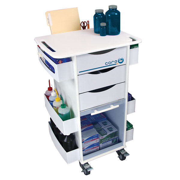 Trippnt 51007 Rolling Organizer Cart Blue From Cole Parmer