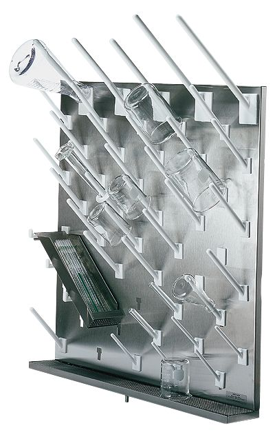 modular stainless steel drying rack 50 white pegs from cole parmer canada. Black Bedroom Furniture Sets. Home Design Ideas