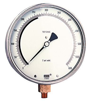 Test Gauge Wika to 600 Psi Test Gauge