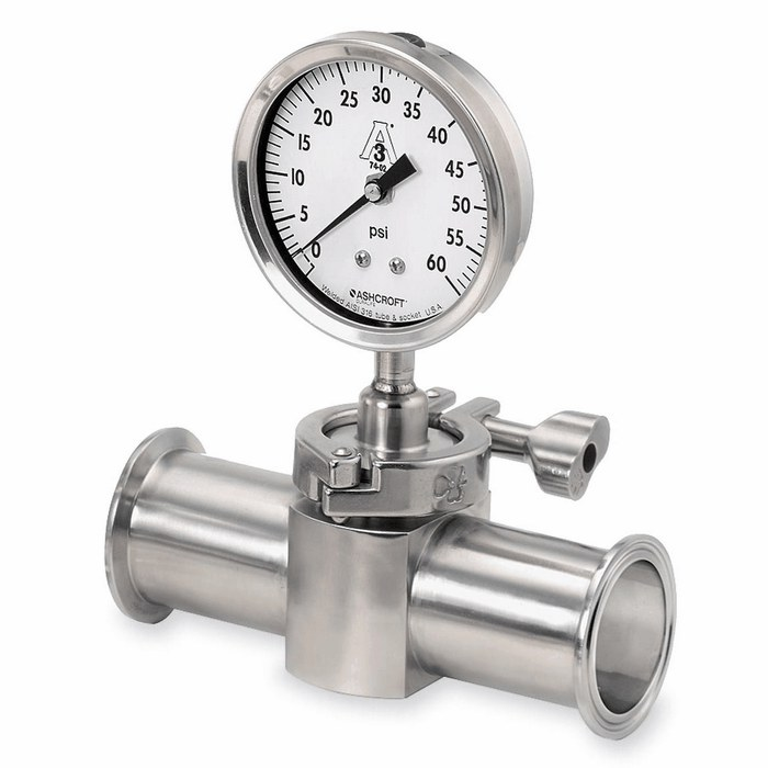 Ashcroft 1036 3 5 Sanitary Pressure Gauge W 1 5 Tri Clamp