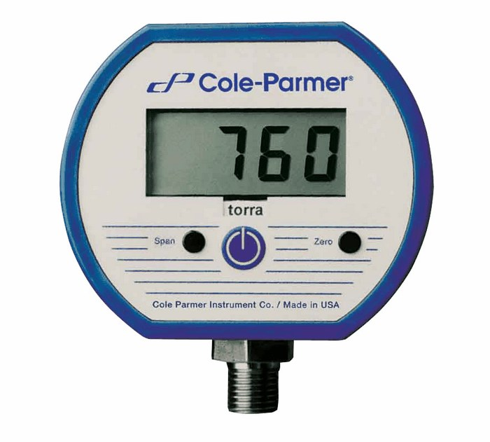 High Pressure Vacuum Gauge : Cole parmer digital gauge torr npt m from