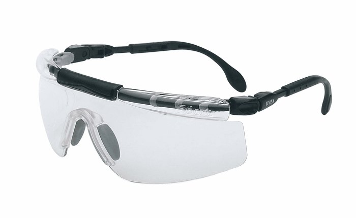 Uvex FitLogic Safety Glasses Black Silver frame Clear lens ...