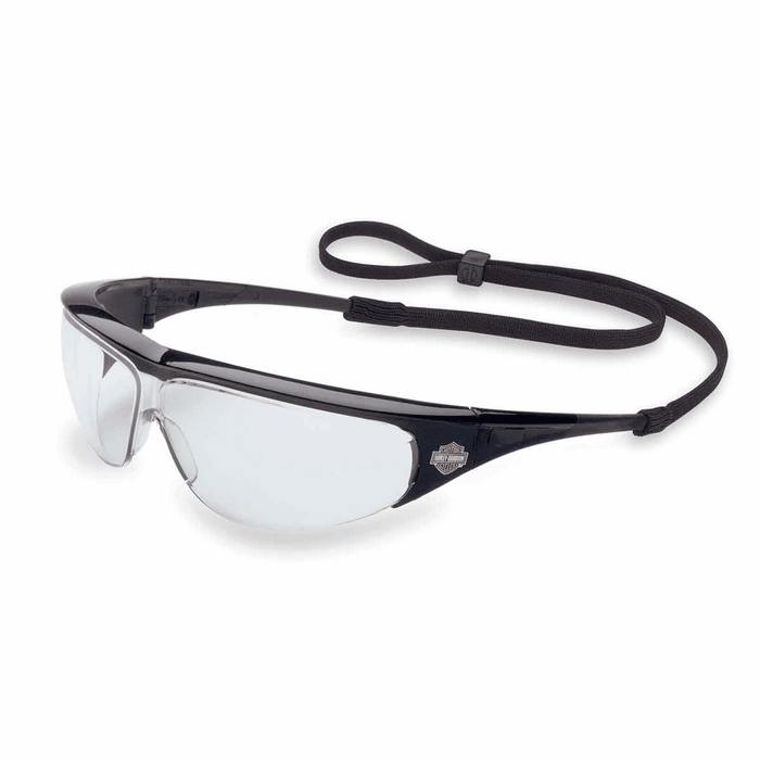 Harley Davidson Safety Glasses HD400 Black Frame Clear ...