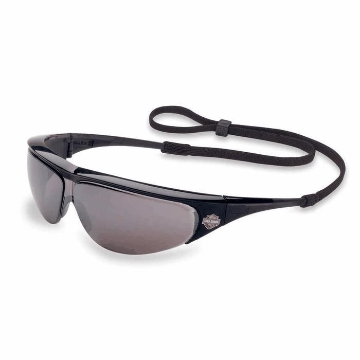 Harley Davidson Safety Glasses HD400 Black Frame Silver ...