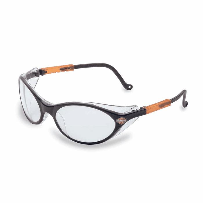 Glasses Frames Harley Davidson : Harley Davidson Safety Glasses HD100 Clear Lens Black ...