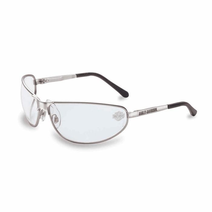 harley davidson safety glasses hd500 silver frame clear