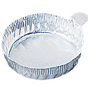 EW-01017-52 Representative Photo Only.  Aluminum Crimpled-Walled Dishes with Tab, 70mm Dia x 5/8