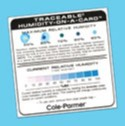 Cole Parmer NIST Traceable Humidity Card 6 pk (Representative photo only)