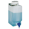 RK-06066-20 Thermo Scientific Nalgene<small><sup>®</sup></small> rectangular high-density polyethylene carboy with spigot, 9 L