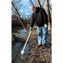 Representative photo only Long handled HDPE dipper 16 oz with 12 2 piece handle